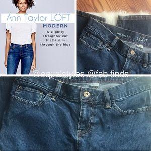 Sz 6 Jeans LOFT Ann Taylor Modern slim Straight